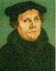 Martin Luther by Cranach, text by Project Wittenberg
